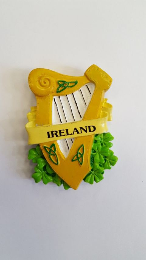 Irish Harp Magnet